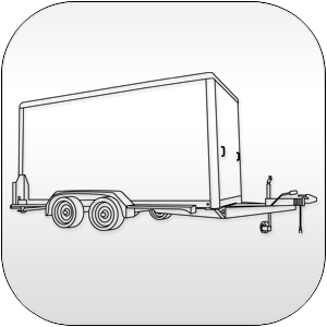 Flat Nose Enclosed Cargo Trailers