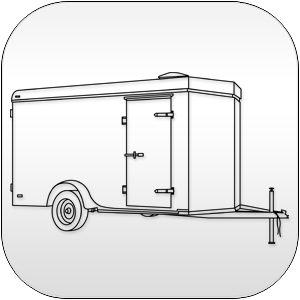 V Nose Enclosed Cargo Trailers